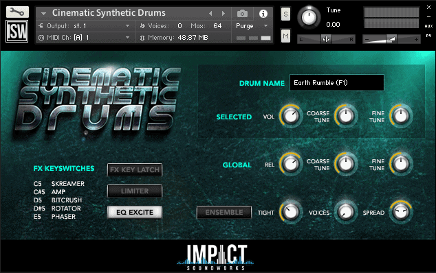 Cinematic Synthetic Drums FREE (VST|AU|AAX)