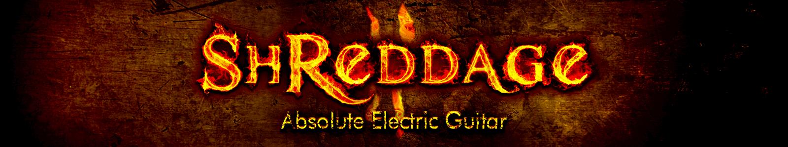 shreddage 2 absolute electric guitar vst au aax. Black Bedroom Furniture Sets. Home Design Ideas