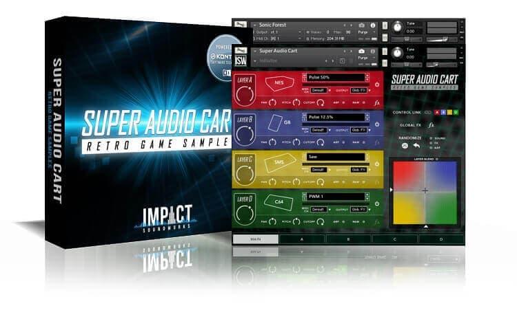 Super Audio Cart - Retro Game Samples (VST, AU, AAX)