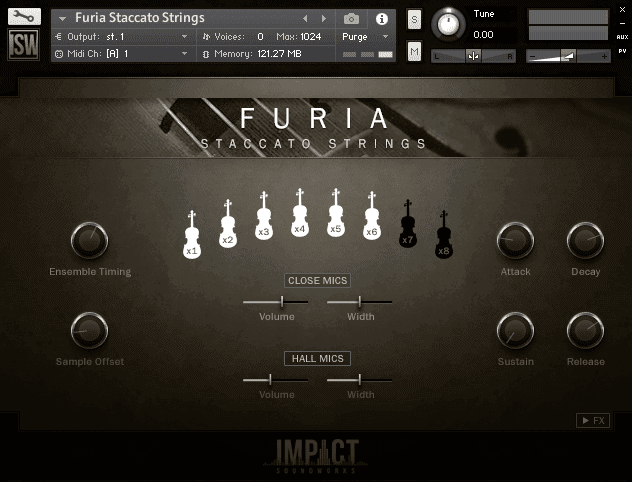 Furia Staccato Strings by Impact Soundworks (VST, AU, AAX)