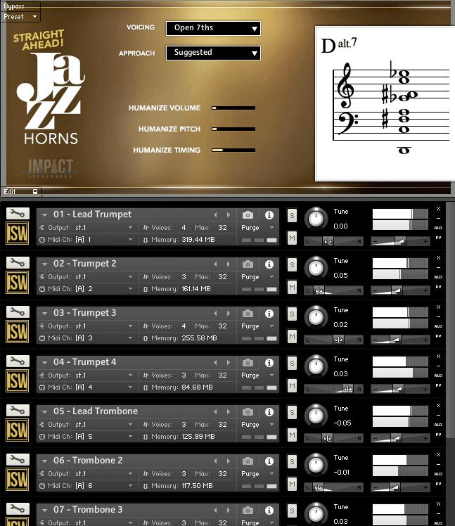 Straight Ahead Jazz Horns by Impact Soundworks (Kontakt VST, AU)
