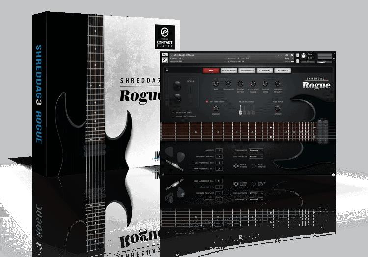 shreddage 3 rogue vst au aax virtual guitar instrument for kontakt. Black Bedroom Furniture Sets. Home Design Ideas