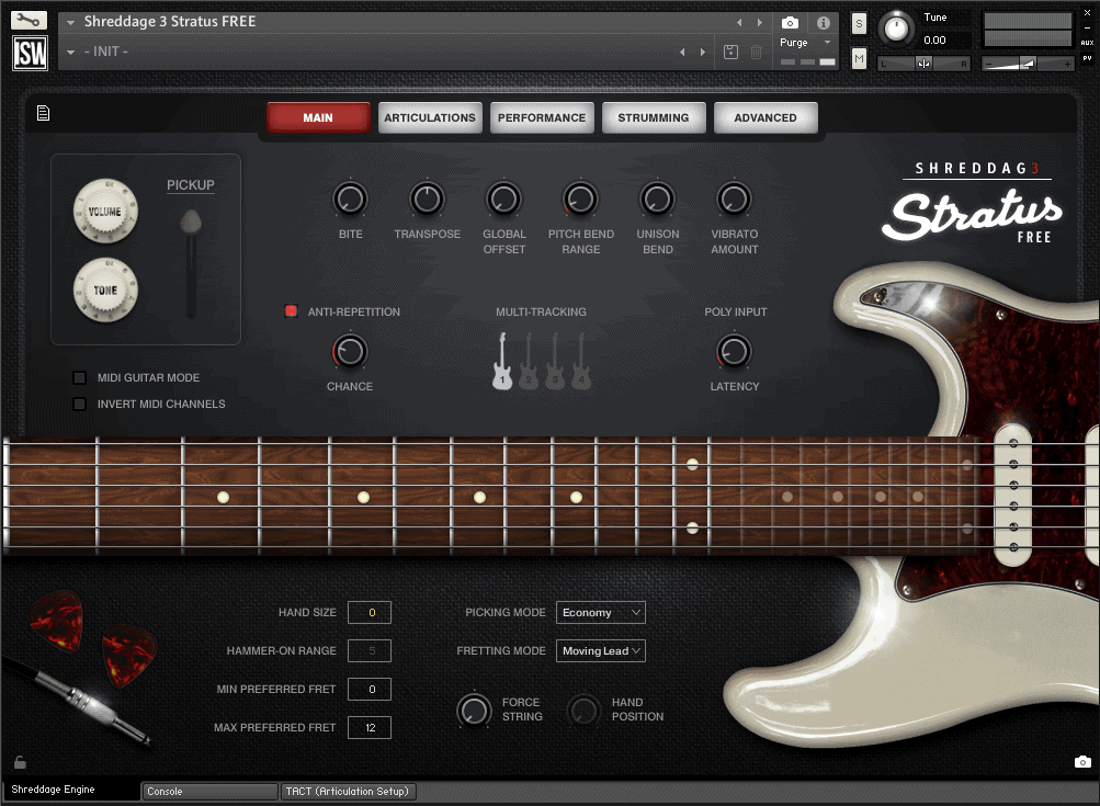 Shreddage 3 Stratus FREE (VST, AU, AAX) Virtual Guitar