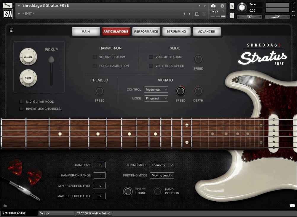shreddage 3 stratus free vst au aax virtual guitar instrument for kontakt. Black Bedroom Furniture Sets. Home Design Ideas
