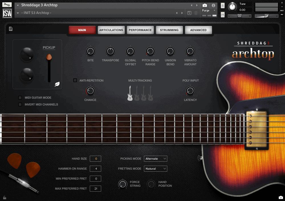 Shreddage 3 Archtop (VST, AU, AAX) Virtual Guitar Instrument for Kontakt