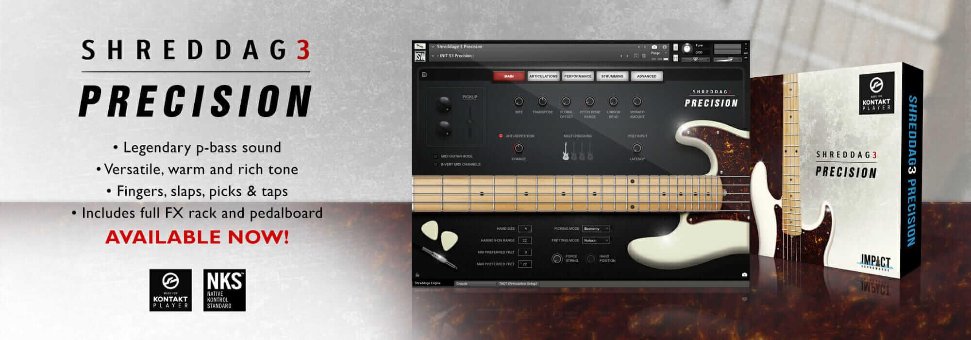 Shreddage 3 Precision - Virtual Bass Now Available